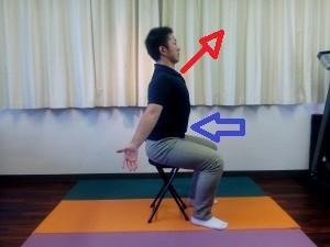 胸椎の連動呼吸座位③-300x225