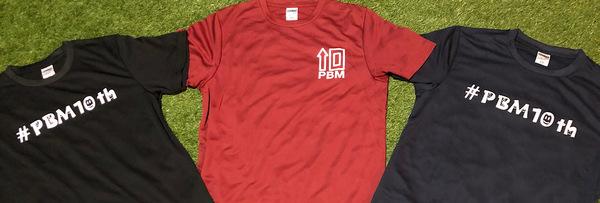 PBM10周年記念Tシャツ販売スタート🎵